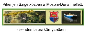 Dunaszentpál kulcsosház vendéglátás szállás Moson-Duna pihenés