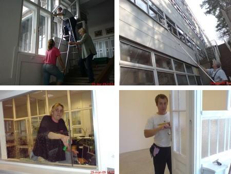 ablaktisztitás, tükrök , üvegfalak Huszák ablaktisztító